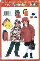 Butterick 6366 Jacket Vest Skirt Pants Hat Size 2 - 5