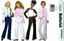 Butterick 6368 Girls Vest Pants Overskirt Size 12 - 16