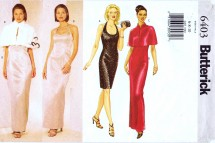 Butterick 6403 Sewing Pattern Formal Evening Halter Dress Capelet Size 6 - 10