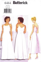 Butterick 6464 Sewing Pattern Misses Flared Evening Dress Size 12 - 14 - 16