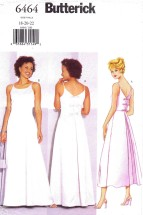 Butterick 6464 Sewing Pattern Misses Flared Evening Dress Size 18 - 20 - 22