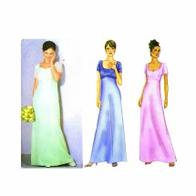 Misses Raised Waist Evening Dress Butterick 6467 Sewing Pattern Size 12 - 14 - 16