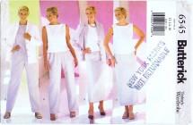 Butterick 6545 Jacket Top Pants Skirt Size 12 - 16 - Bust 34 - 38