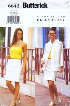 Butterick 6643 Sewing Pattern Ellen Tracy Full Figure Jacket Top Skirt Size 18 - 20 - 22