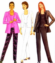Misses Shirt Camisole Pants Butterick 6710 Sewing Pattern Size 6 - 8 - 10