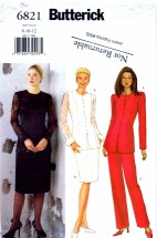Butterick 6821 Sewing Pattern Jacket Skirt Pants Suit Size 8 - 10 - 12