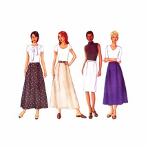 Misses Straight or Slightly Flared Skirt Butterick 3088 Sewing Pattern Size 8 - 10 - 12
