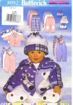 Butterick 5092 Sewing Pattern Infants Jacket Jumpsuit Pants Hat Size Large - Extra Large