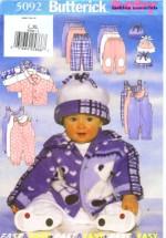Butterick 5092 Sewing Pattern Infants Jacket Jumpsuit Pants Hat Size Large - Extra Large
