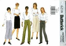 Butterick 6218 Skirt & Pants Size 6 - 10 - Waist 23 - 25