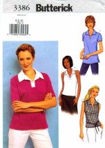 Butterick 3386 Womens Top Sewing Pattern Size 6 - 8 - 10