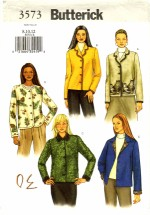 Butterick 3573 Sewing Pattern Misses Front Button Jackets Size 8 - 10 - 12