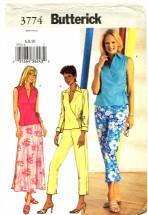 Butterick 3774 Wrap Top Skirt Pants Size 6 - 10 - Bust 30 1/2 - 32 1/2