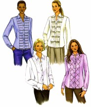Butterick 4023 Womens Fitted Shirt Sewing Pattern Size 6 - 8 - 10