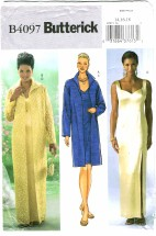 Butterick 4097 Misses Duster & Dress Size 14 - 18