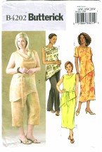 Butterick 4202 Misses Top Belt Skirt Pants Size 16 - 20