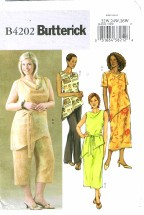Butterick 4202 Misses Top Belt Skirt Pants Size 22 - 26