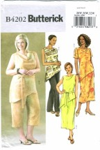Butterick 4202 Misses Top Belt Skirt Pants Size 28 - 32