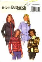 Butterick 4293 Fleece Jacket Size 4 - 14 - Bust 29 1/2 - 36