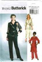Butterick 4302 Misses Top Tunic Skirt Pants Plus Size 26 - 32