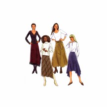 Misses Loose Fitting Contour Waist Skirt Butterick 4348 Sewing Pattern Size 6 - 8 - 10 - 12
