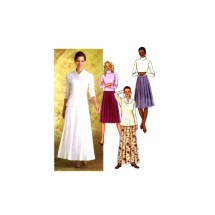 Misses Pleated Flared Skirt Butterick 4350 Sewing Pattern Size 6 - 8 - 10 - 12