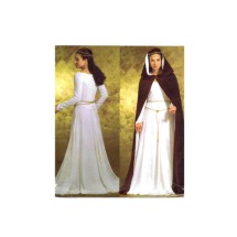 Misses Historical Dress and Hooded Cape Costume Butterick 4377 Sewing Pattern Size 6 - 8 - 10 - 12