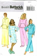 Butterick 4405 Misses Top Pants Dress Booties Pajamas Size 4 - 14