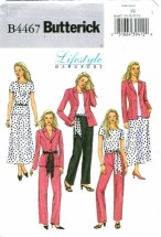 Butterick 4467Jacket Top Skirt Pants Sash Size 16 - 22