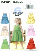 Butterick 4501 Girls Dress Size 4 - 6