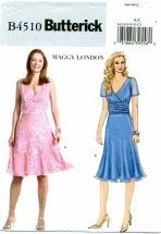 Butterick 4510 Maggy London Lined Dress Size 6 - 12