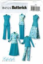 Butterick 4524 Misses Reversible Top Skirt Pants Size 6 - 12