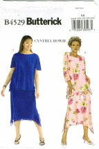 Butterick 4529 Womens Tops & Skirts Plus Size 18 - 24