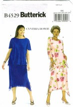 Butterick 4529 Womens Tops & Skirts Plus Size 26 - 32