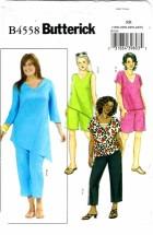 Butterick 4558 Misses Top Tunic Short Capri Pants Plus Size 18 - 24