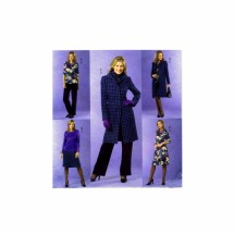 Misses Jacket Top Skirt Pants Butterick 4619 Sewing Pattern Size 8-10-12-14
