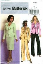 Butterick 4691 Misses Jacket Skirt Pants Size 6 - 12