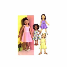 Girls Flared Dress Butterick 4718 Sewing Pattern Size 6 - 7 - 8