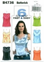 Butterick 4736 Pullover Camisole Size 6 - 12