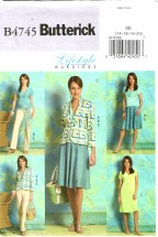 Butterick 4745  Misses Jacket Top Dress Skirt Pants Size 14 - 20