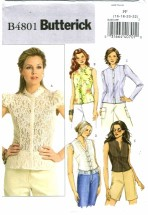 Butterick 4801 Misses Summer Tops Size 16 - 22