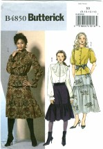 Butterick 4850 Misses Flounce Top & Skirt Size 8 - 14