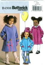 Butterick 4908 Girls Jacket & Coat Size 2 - 5