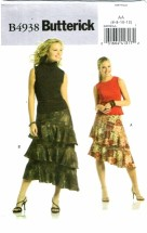 Butterick 4938 Misses Flounced Skirts Size 6 - 12