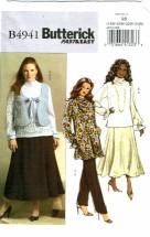 Butterick 4941 Misses Vest Blouse Tunic Skirt Pants Plus Size 18 - 24