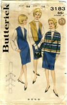 Butterick 3183 Misses Jumper Blouse Jacket Size 14 - Bust 34