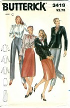 Butterick 3418 Jacket Blouse Skirt Pants Size 10 - Bust 32 1/2