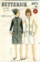 Butterick 3571 Misses One-Piece GIANT ZIPPER Dress or Jumper Size 10