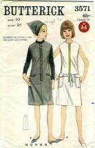 Butterick 3571 Misses One-Piece GIANT ZIPPER Dress or Jumper Size 10