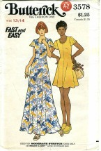 Butterick 3578 High Fitted Flared Dress Size 13 / 14 - Bust 33 1/2